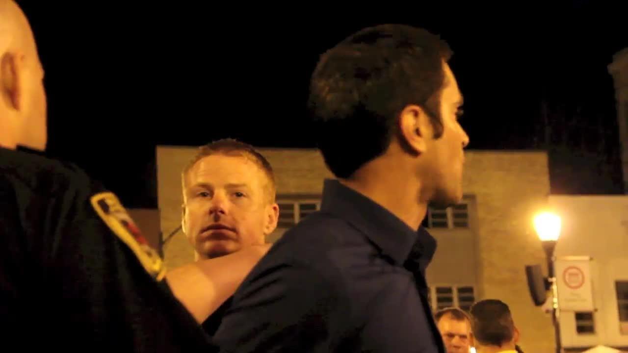 Street preacher Aaron Brummitt was arrested Friday, Oct. 4, 2014 in downtown Springfield.