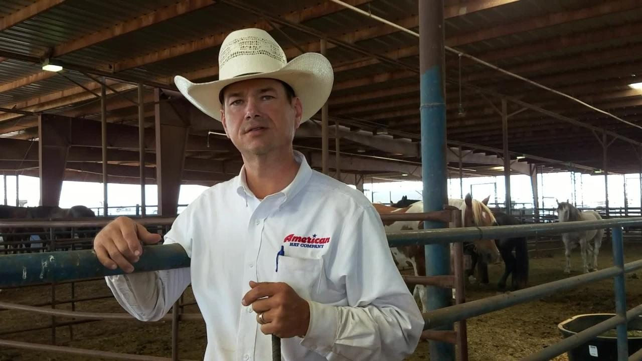 Jason Murray on his company working as the stock handler for the Texas High School State Finals Rodeo.