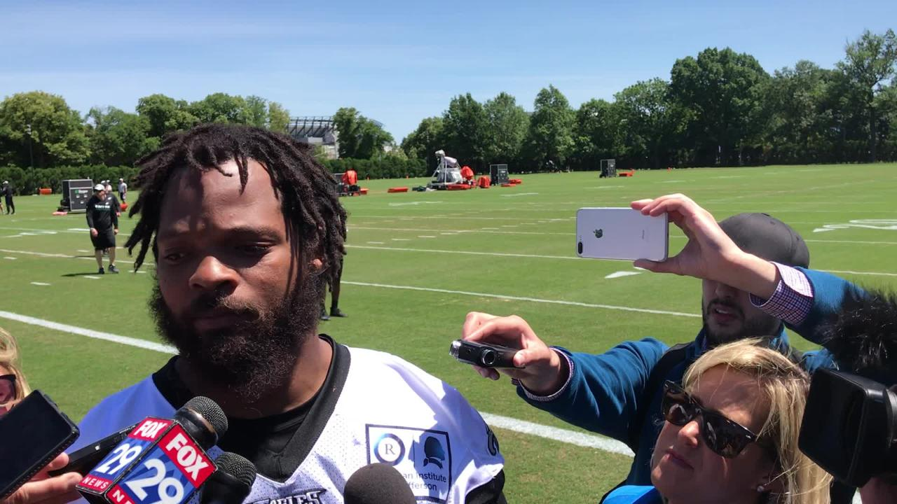 Darren Sproles on his recovery from knee surgery and Michael Bennett on why he skipped three weeks of OTAs.