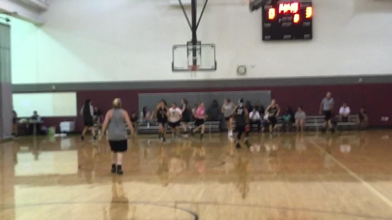 Newark played Liberty Union and a team of local alumni during summer league action on Tuesday.