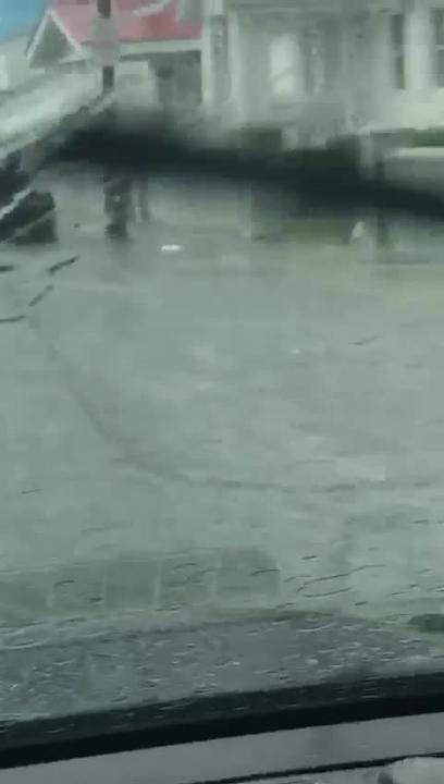 Kerrie Bunting got video of flooding along Coastal Highway in Ocean City on Saturday, June 9.