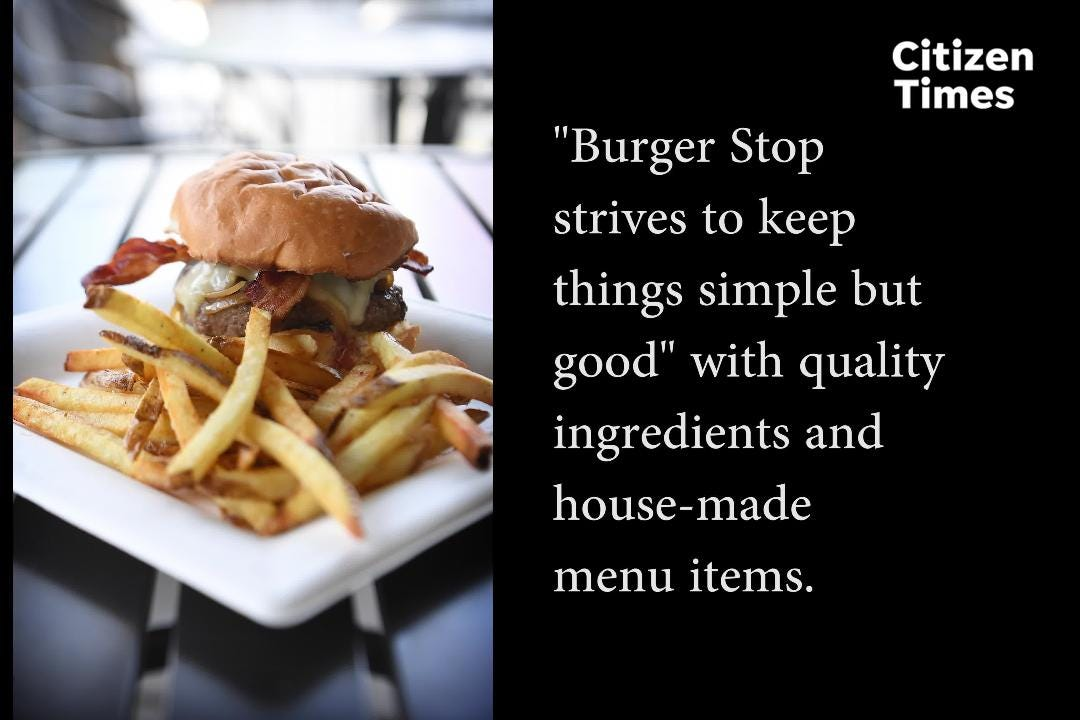 If you're looking for a tasty burger on the New Leicester Highway why not stop into the gas station and give The Burger Stop a try?