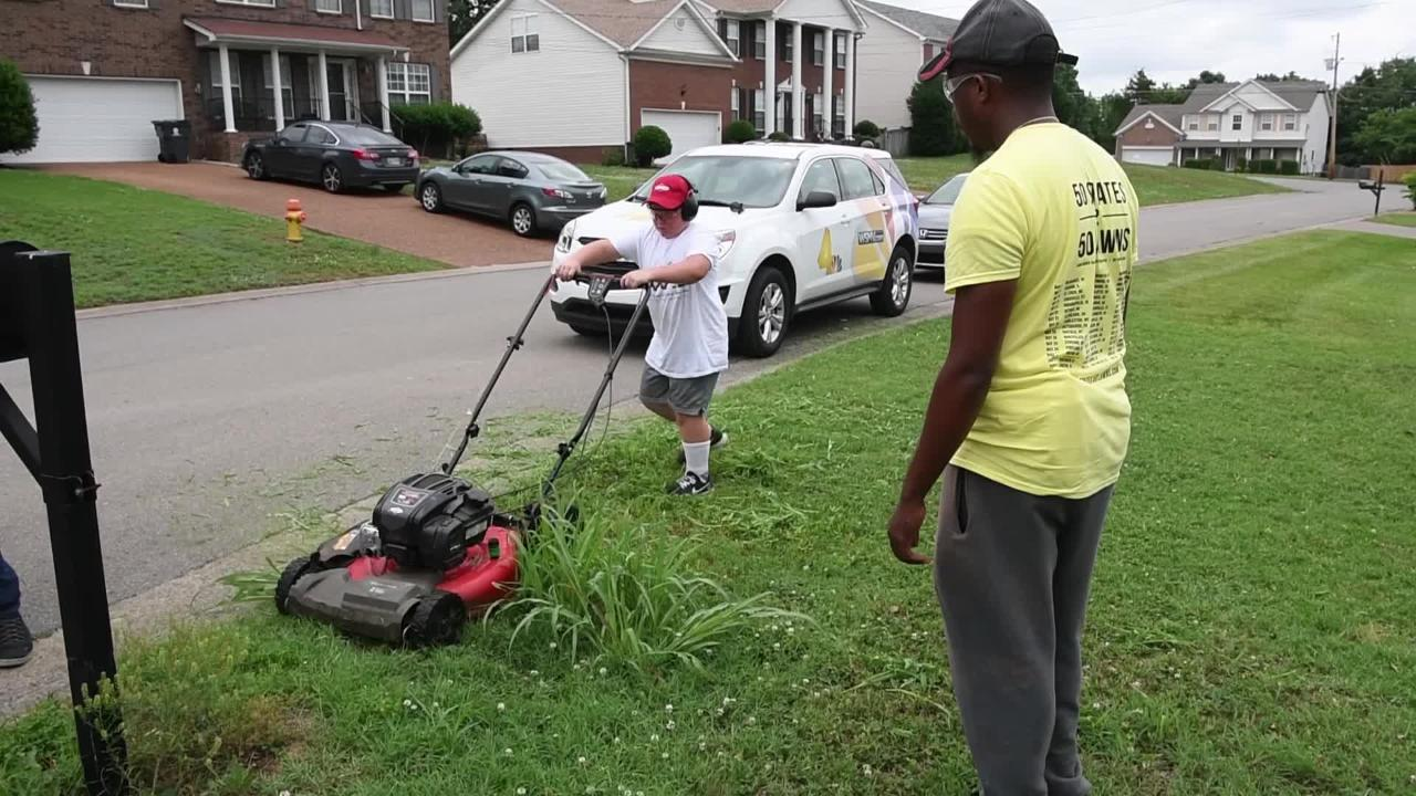 Rodney Smith Jr. plans to mow lawns across America.
