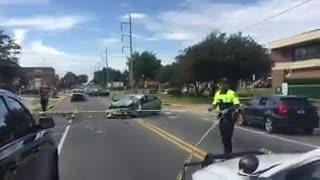 Watch it: Police investigating injuries at crash at FAMU.