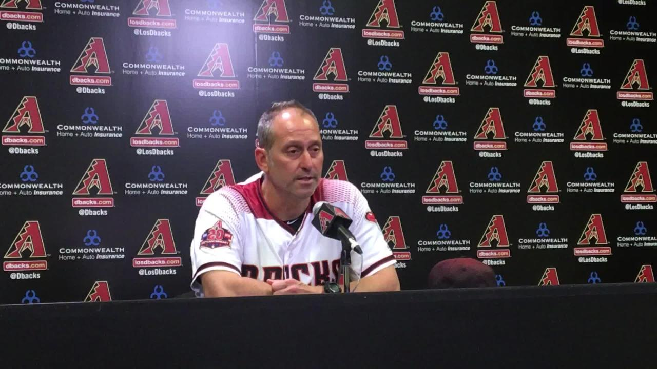 The Diamondbacks tried to rally in the bottom of the ninth, but came up short, losing 5-4 to Pittsburgh. Lovullo breaks down Greinke's performance.