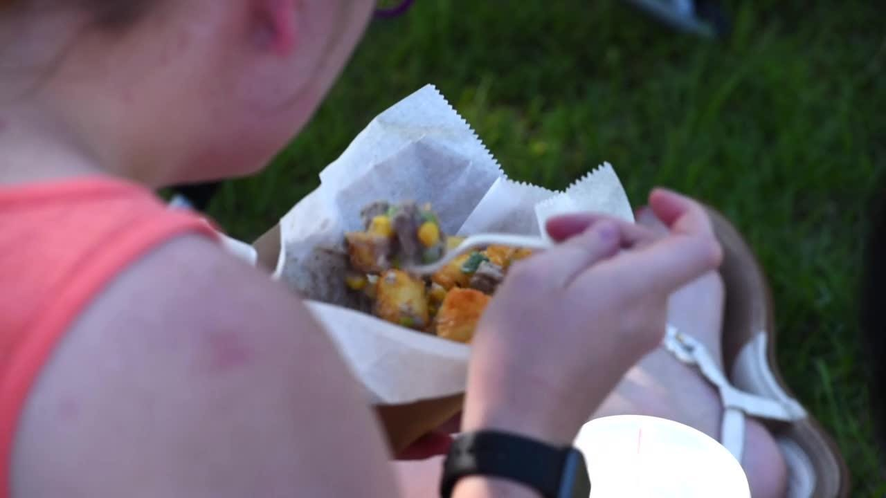 People gather for music, food and fun at weekly concerts.