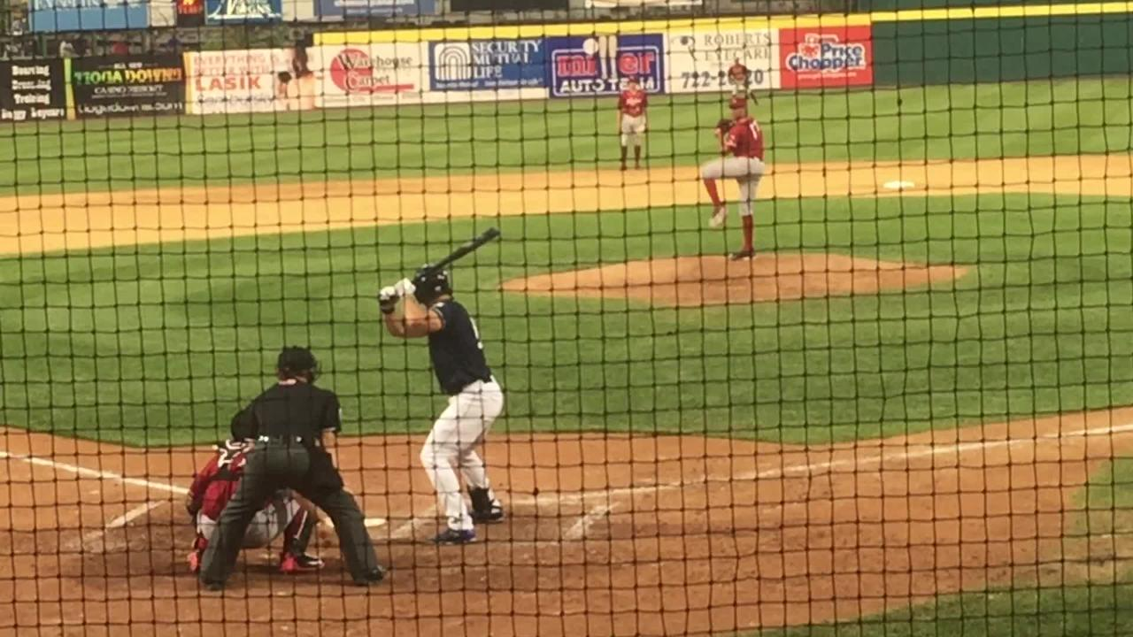 VIDEO: Tebow doubles to right