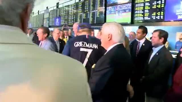 Governor Phil Murphy was live at Monmouth Park Racetrack placing the first legal sports bet in New Jersey.
