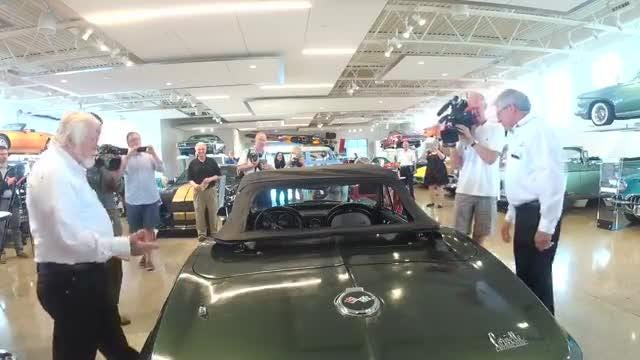 The 1967 Corvette that Packers quarterback Bart Starr won as MVP of Super Bowl i is on display at the Automobile Gallery in downtown Green Bay