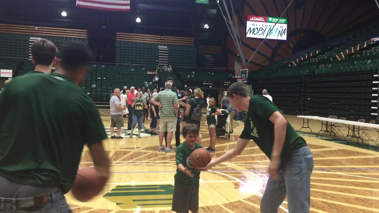 The CSU men's basketball team held a meet-and-greet with fans Tuesday at Moby Arena.
