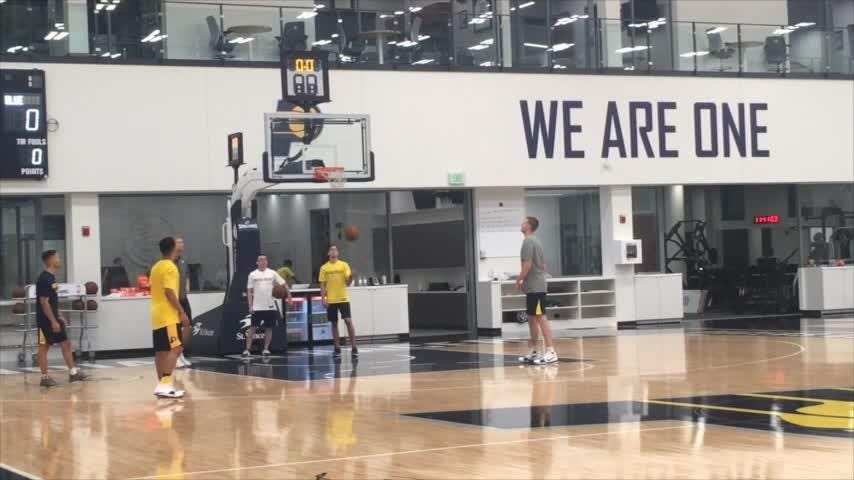 Two-time national champion Jalen Brunson worked out with the Indiana Pacers Thursday.