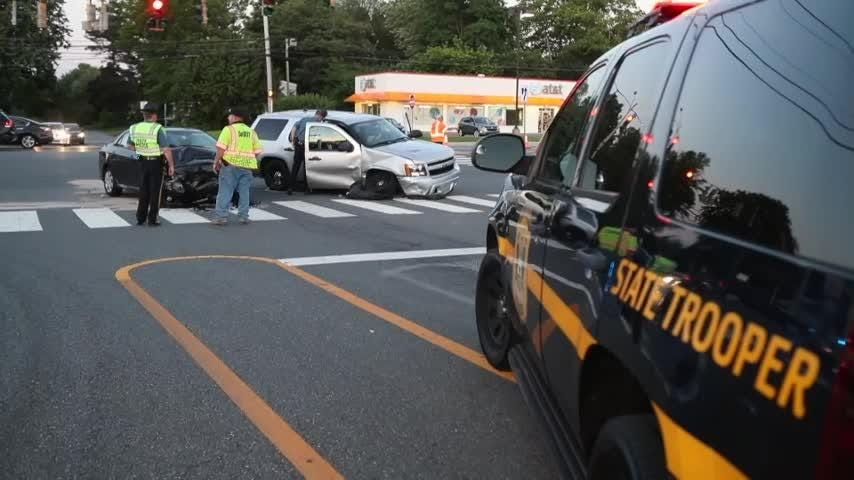 A Delaware State Police patrol car was involved in a two-car accident which left the trooper and driver of the other vehicle in stable condition Thursday.