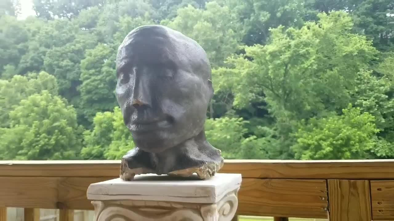Clarksville family is trying to figure out where statue head came from.