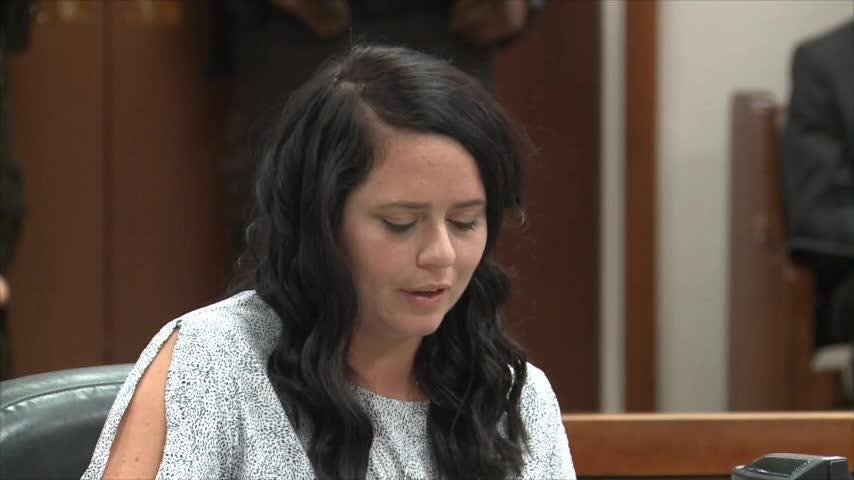 Nick Rodman's widow speaks at Wathaniel Woods sentencing