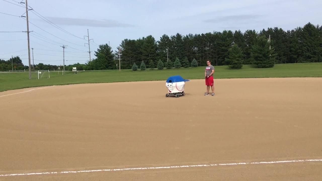 Tossing out the first pitch is a big honor in the Major Leagues. On June 15, that honor belongs to a robot built by Arrowhead High School students.