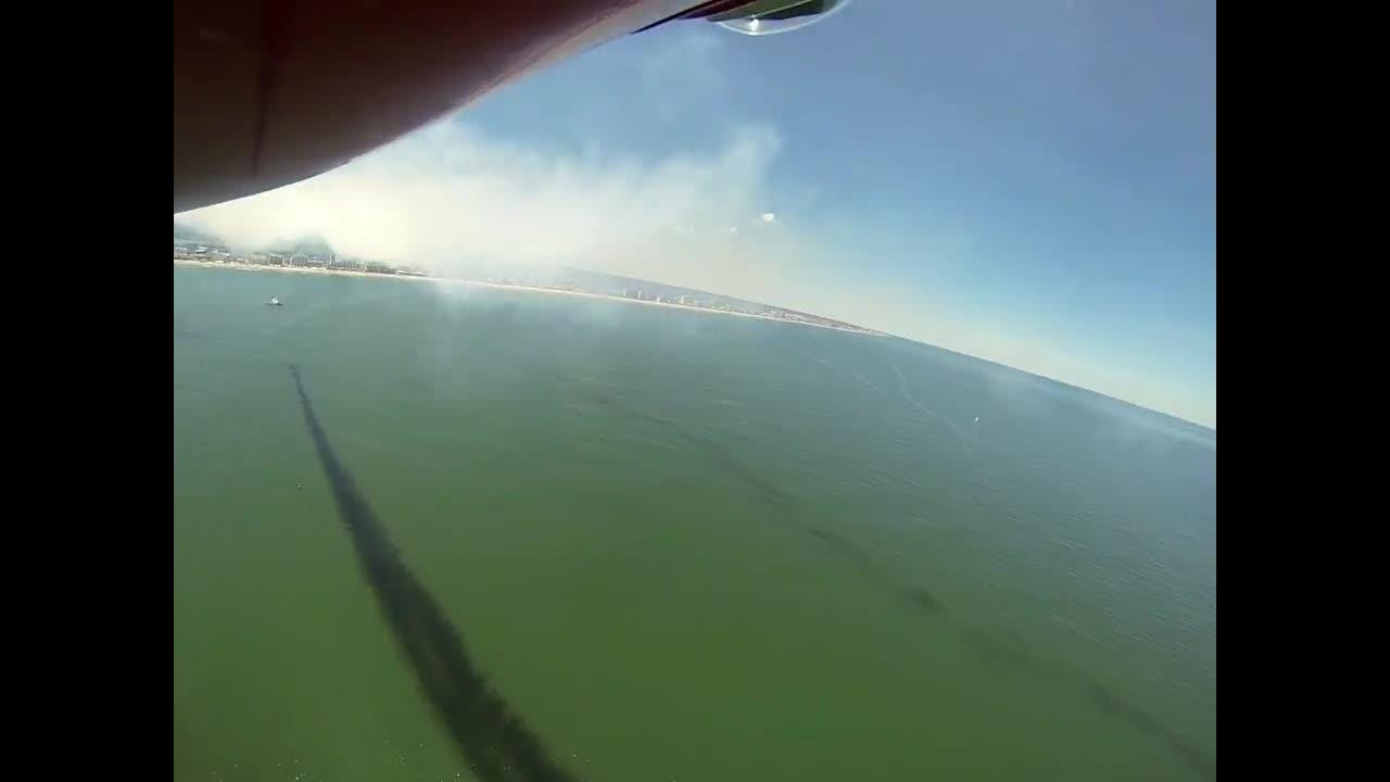 The video offers a rare perspective of an air show performance and also includes spectacular views over Ocean City's beaches.