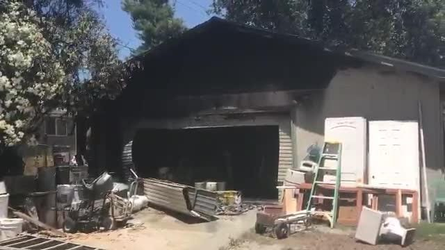 A garage fire on Friday, June 15, 2018 did not spread into a house in the 1800 block of Mesa Street in west Redding.