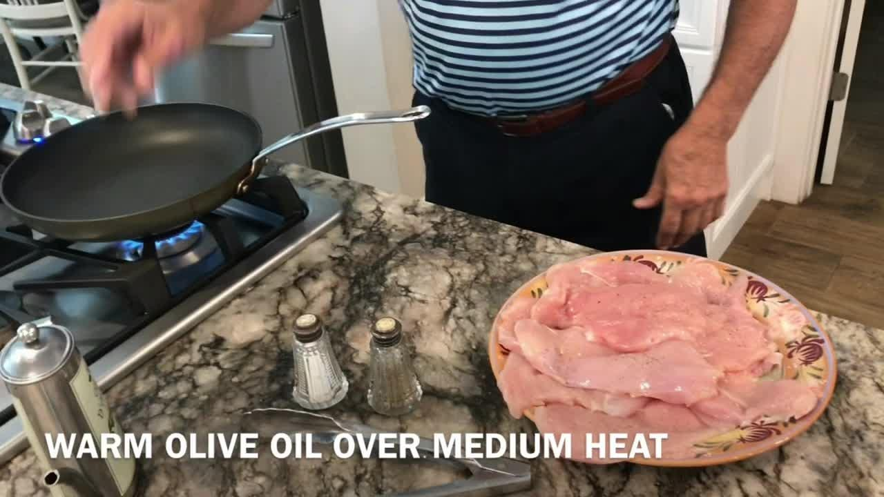 Frank Manfredi of Cocoa shows how to make Chicken and Olives, a dish that's easy and delicious. Video by Suzy Fleming Leonard. Uploaded June 15, 2018.