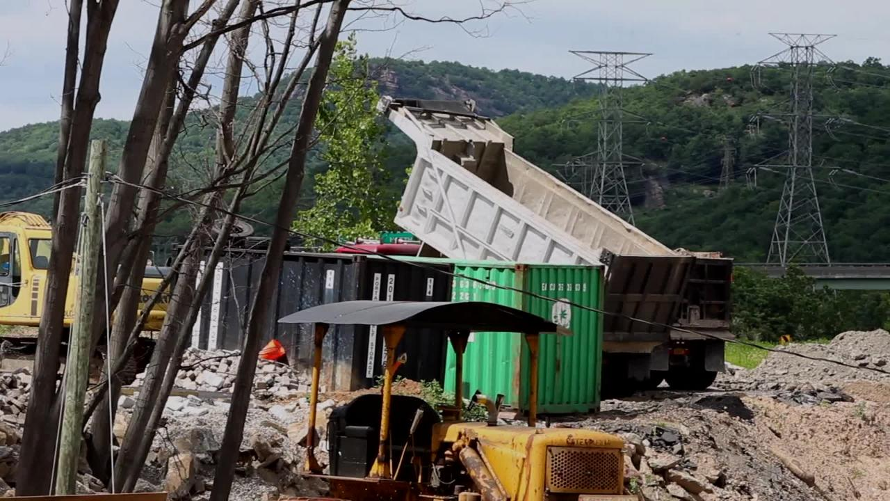 Rockland County is alleging that dirt is illegally being dumped at this site near the Ramapo River in Hillburn Friday,  June 15, 2018.