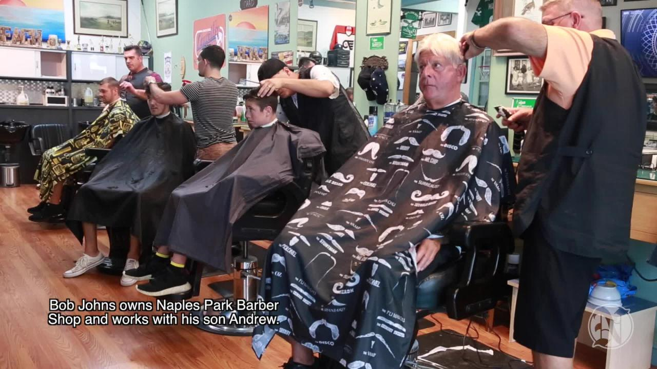 The  father-son duo spend hours at the shop, cutting hair, shaping beards and talking to customers about everything from football to politics.