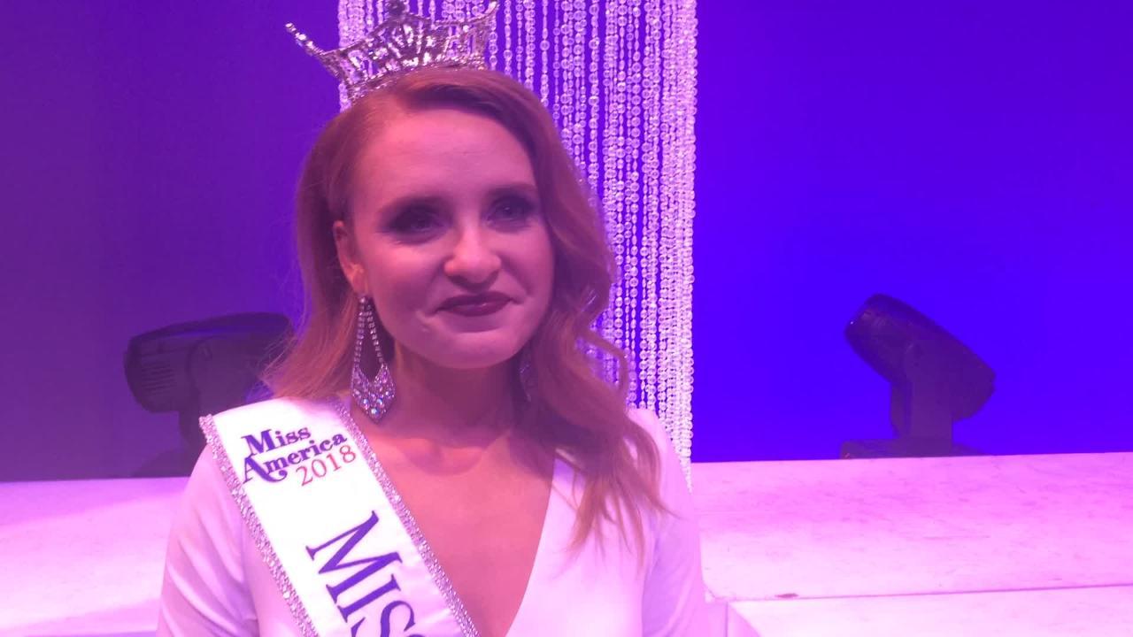 Miss Wisconsin 2018 Tianna Vanderhei reacts to win