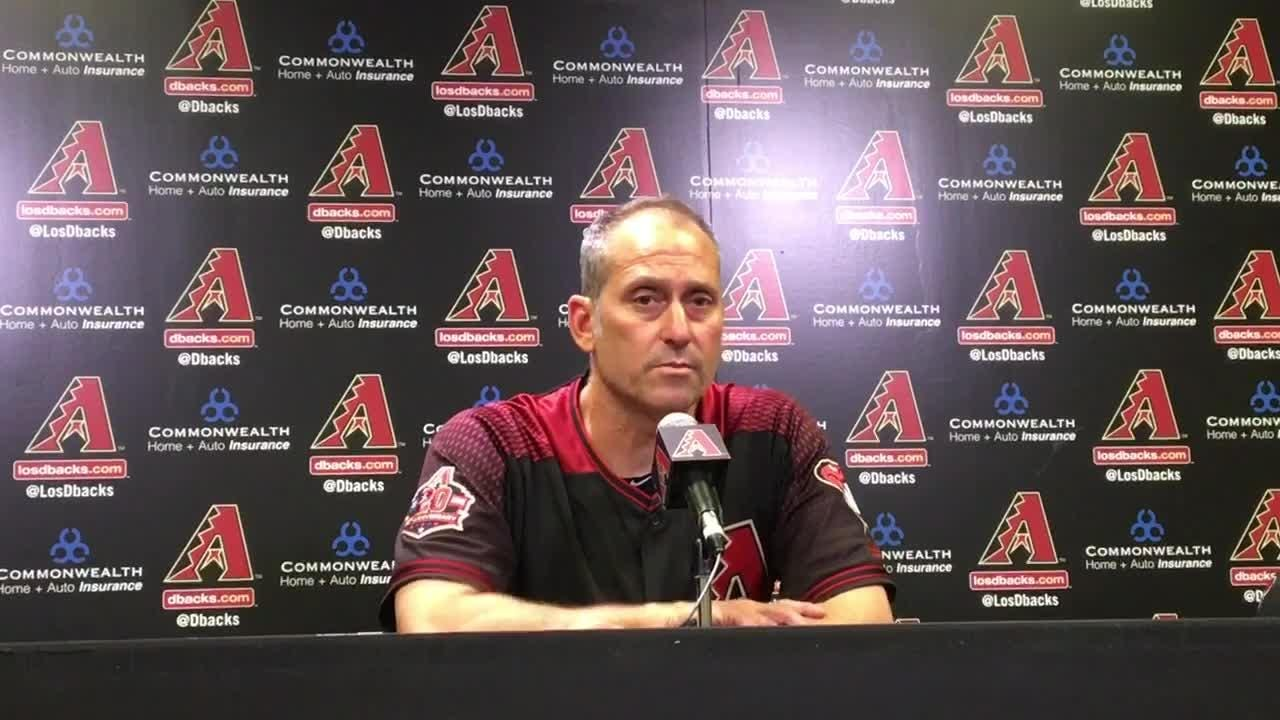 Torey Lovullo discusses the Diamondbacks' loss to the Mets on Saturday.