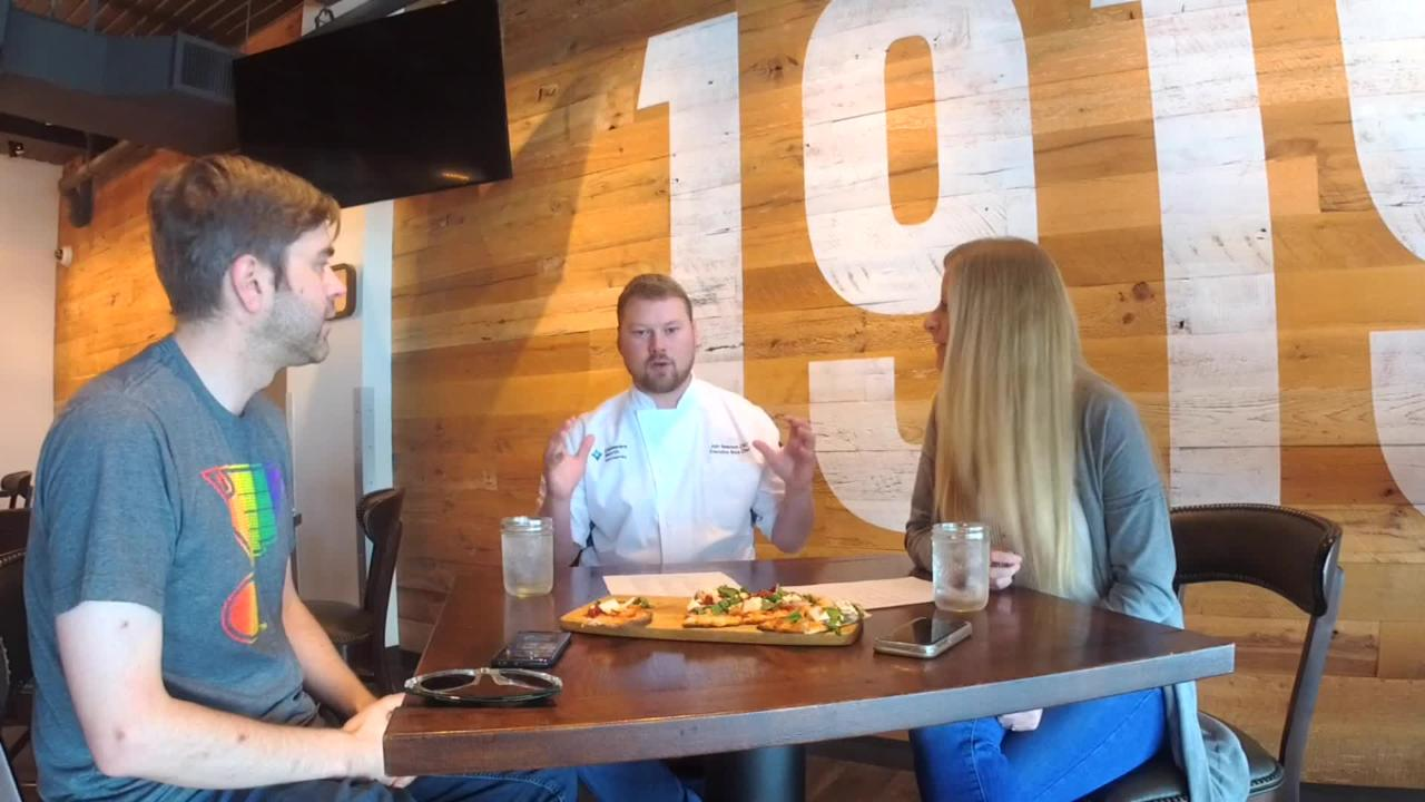 The Daily Dose talks with Josh, the executive sous chef at 1919 Kitchen & Tap in Lambeau Field, about the new player-inspired flatbreads.