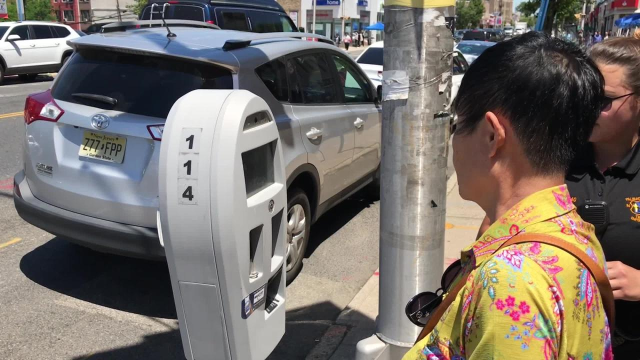 You've heard of red-light cameras. This is the parking meter equivalent in North Jersey.