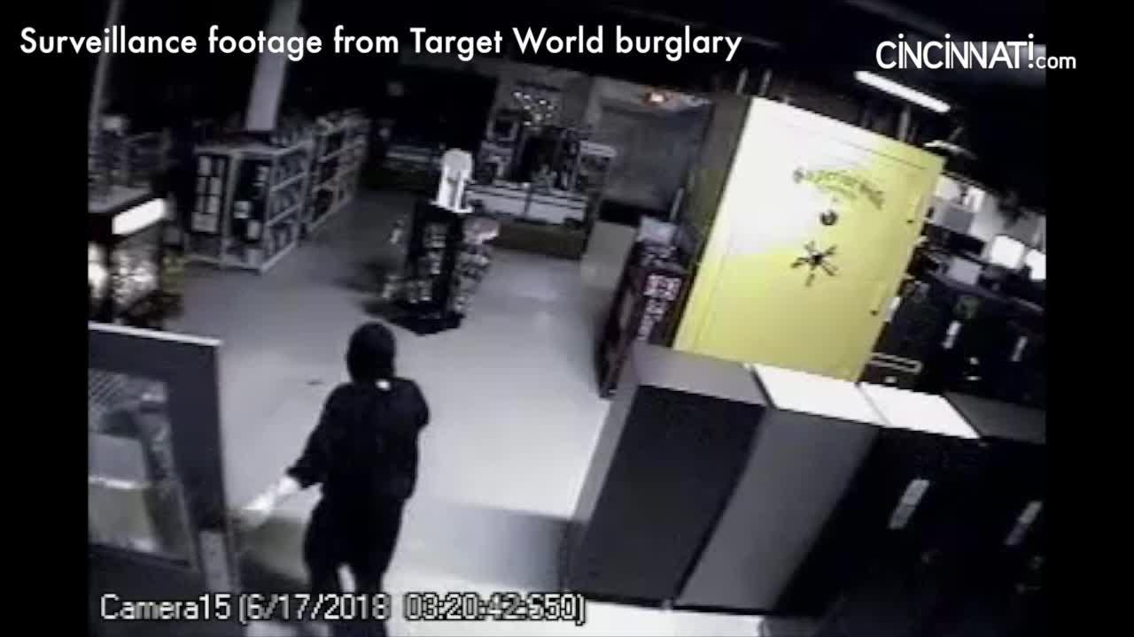 Footage from burglary at Target World