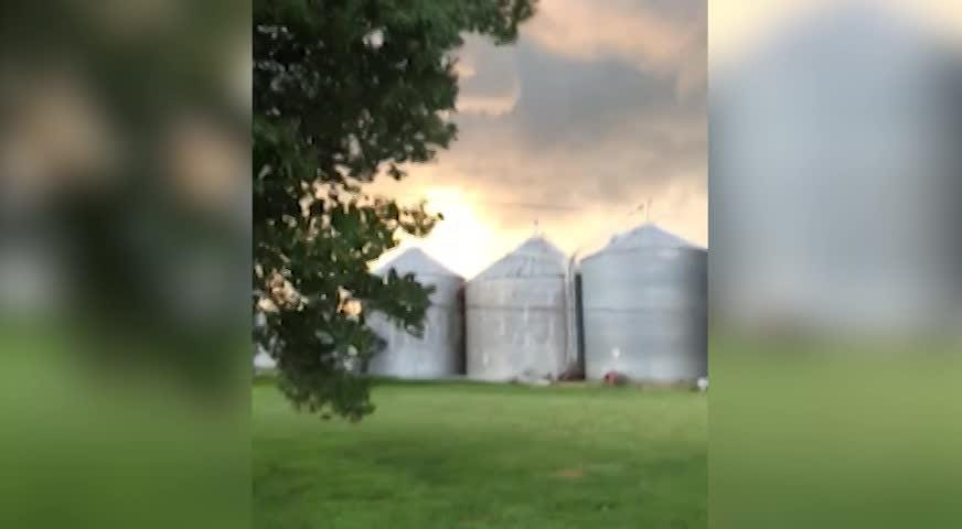 Camden Moellendick took this video of storm clouds rolling his family's Pleasant Township farm Saturday, June 16, 2018, before it damaged a barn.