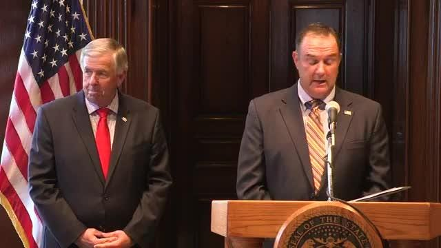 Gov. Mike Parson on Monday announced that he was appointing Sen. Mike Kehoe, R-Jefferson City, to the position of lieutenant governor.