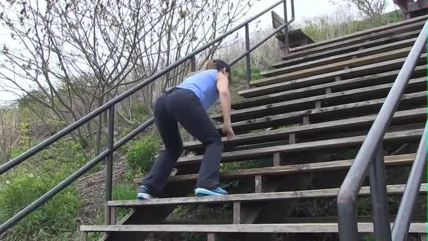 Staircase workout, takes steps to the next level.