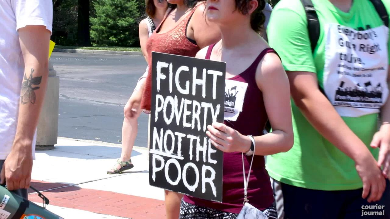 The Poor People's Campaign rallied in Frankfort for the third week in a row.