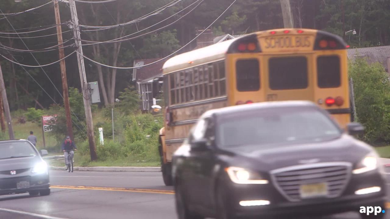 One intersection shows the busing bonanza of Lakewood Township