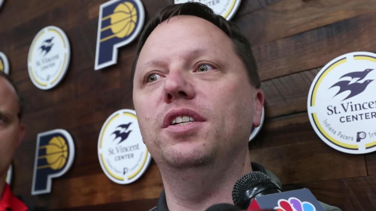 Pacers Director of Player Personnel Ryan Carr talks NBA draft, Thad Young and Pacers' pick 23 hopes.
