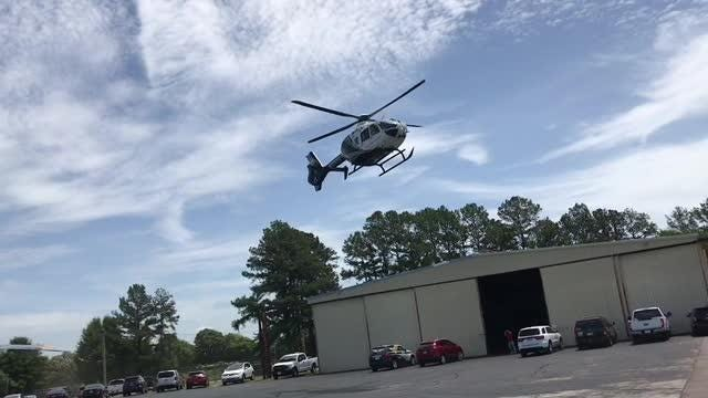 This is a similar helicopter to the one that will be used at the new Vanderbilt LifeFlight helicopter emergency base in Humboldt.