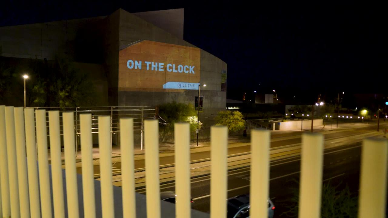 It's almost time for the 2018 NBA draft, and the side of the Arizona Science Center is counting down until the Suns make the first pick.