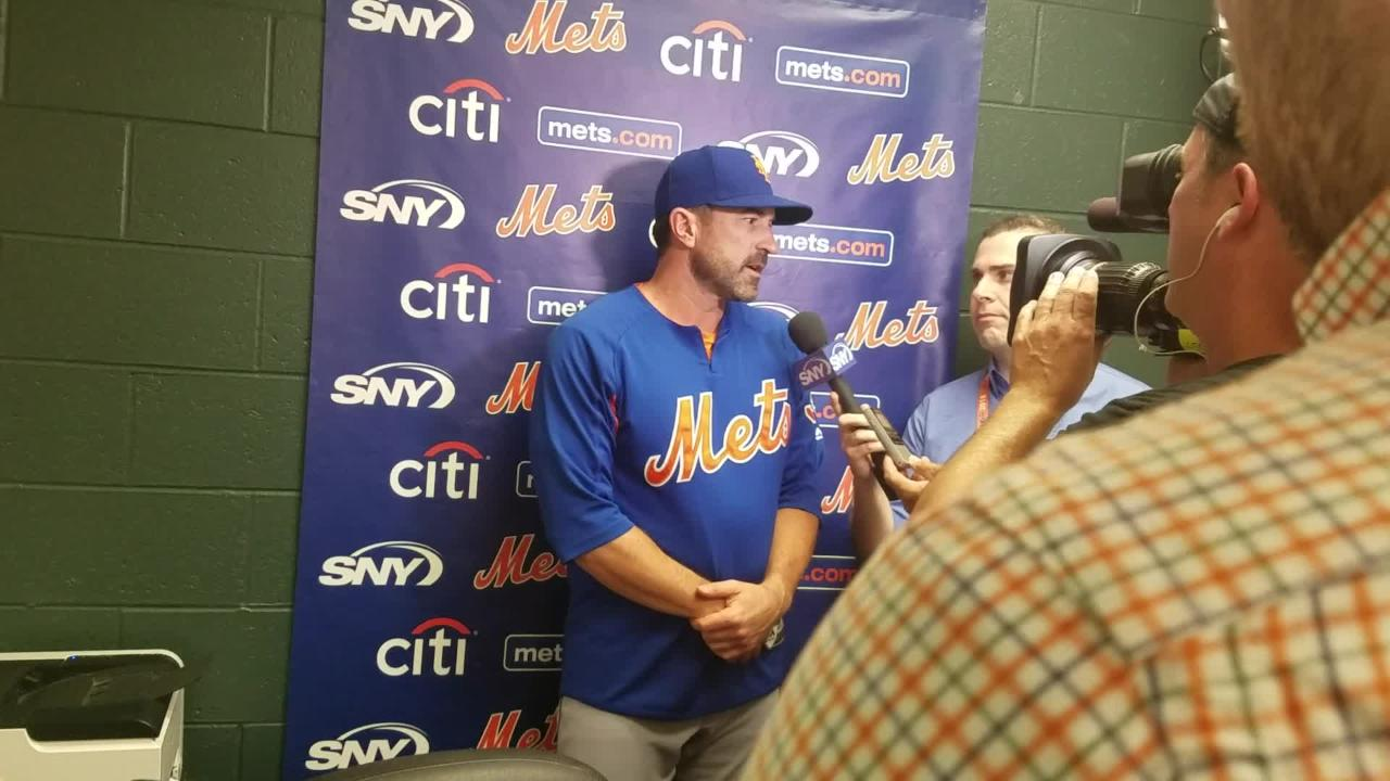 Mets manager Mickey Callaway on Jay Bruce's injury, Dom Smith playing left field Tuesday