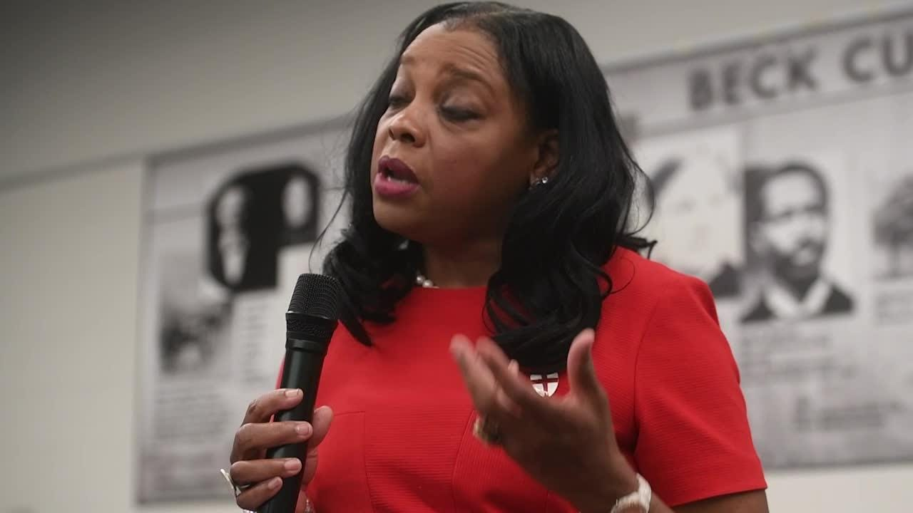 Commissioner Evelyn Gill addresses Project GRAD, teacher pay, and taxes