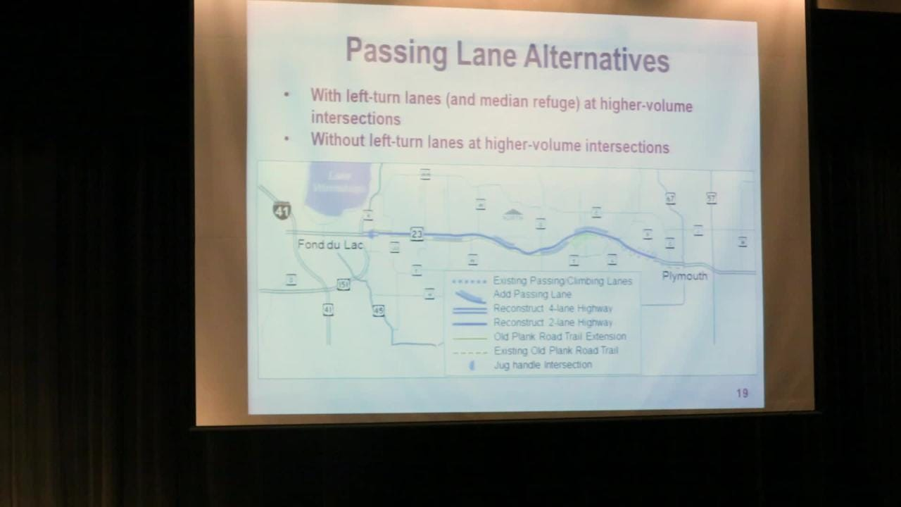 Residents of Sheboygan and Fond du Lac County got to see proposed options for upgrading State Highway 23.