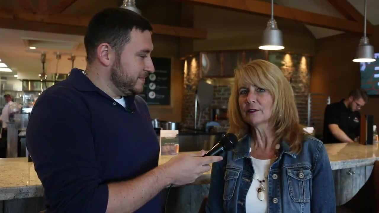 Wyndridge Farm co-owner Julie Groff takes a tour of the York Township restaurant in 2016.