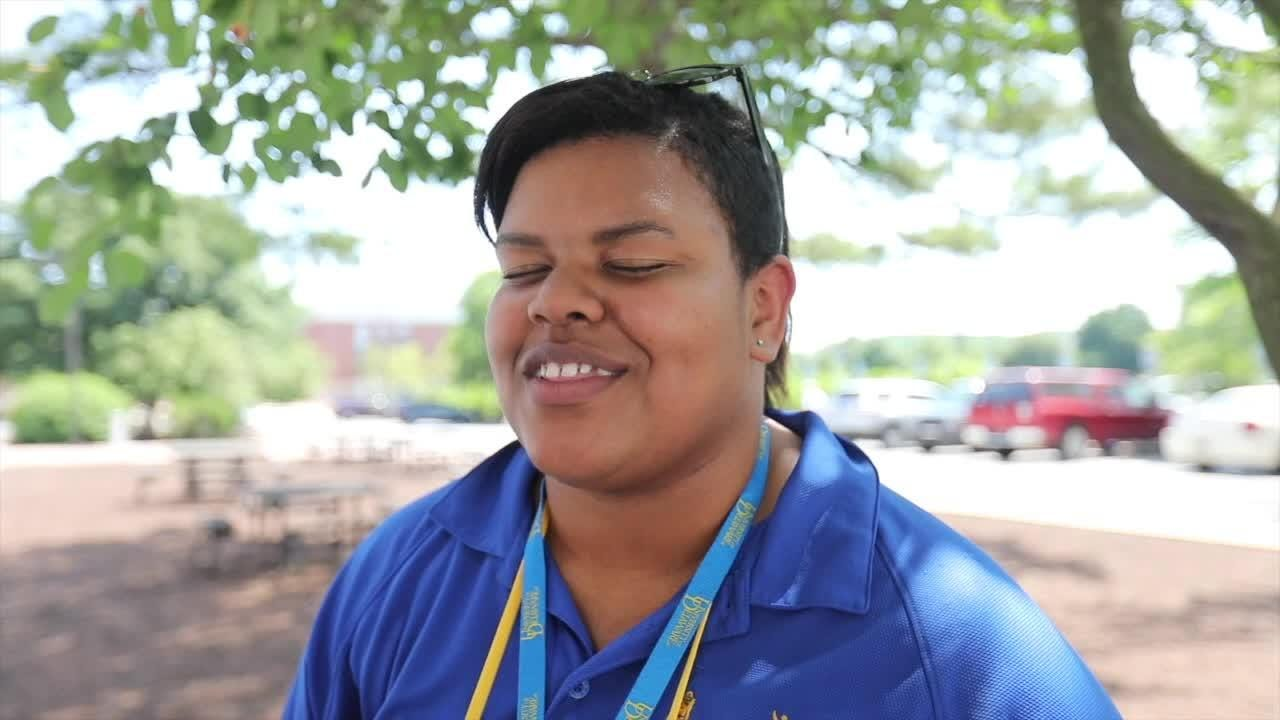 DFRC office coordinator Jada Little has been involved with Blue-Gold and DFRC since her brother's time as a buddy starting when she was six.