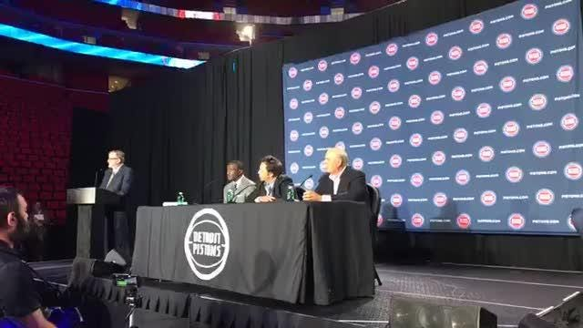 The Detroit Pistons introduced new head coach Dwane Casey on Wednesday, June 20, 2018, at Little Caesars Arena in Detroit.