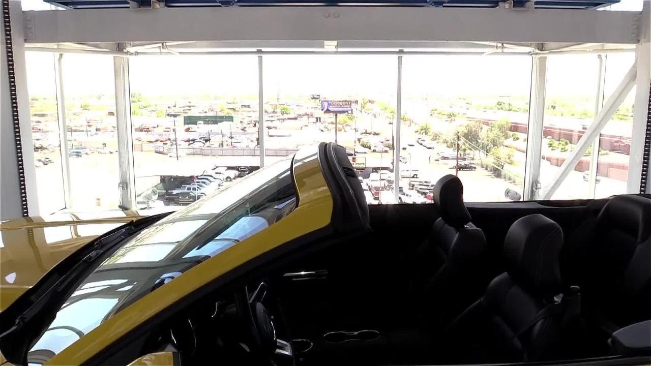 Carvana, a unique online automotive retailer that dispenses its cars through a nine-story vending machine, is open in Tempe on June 20, 2018.