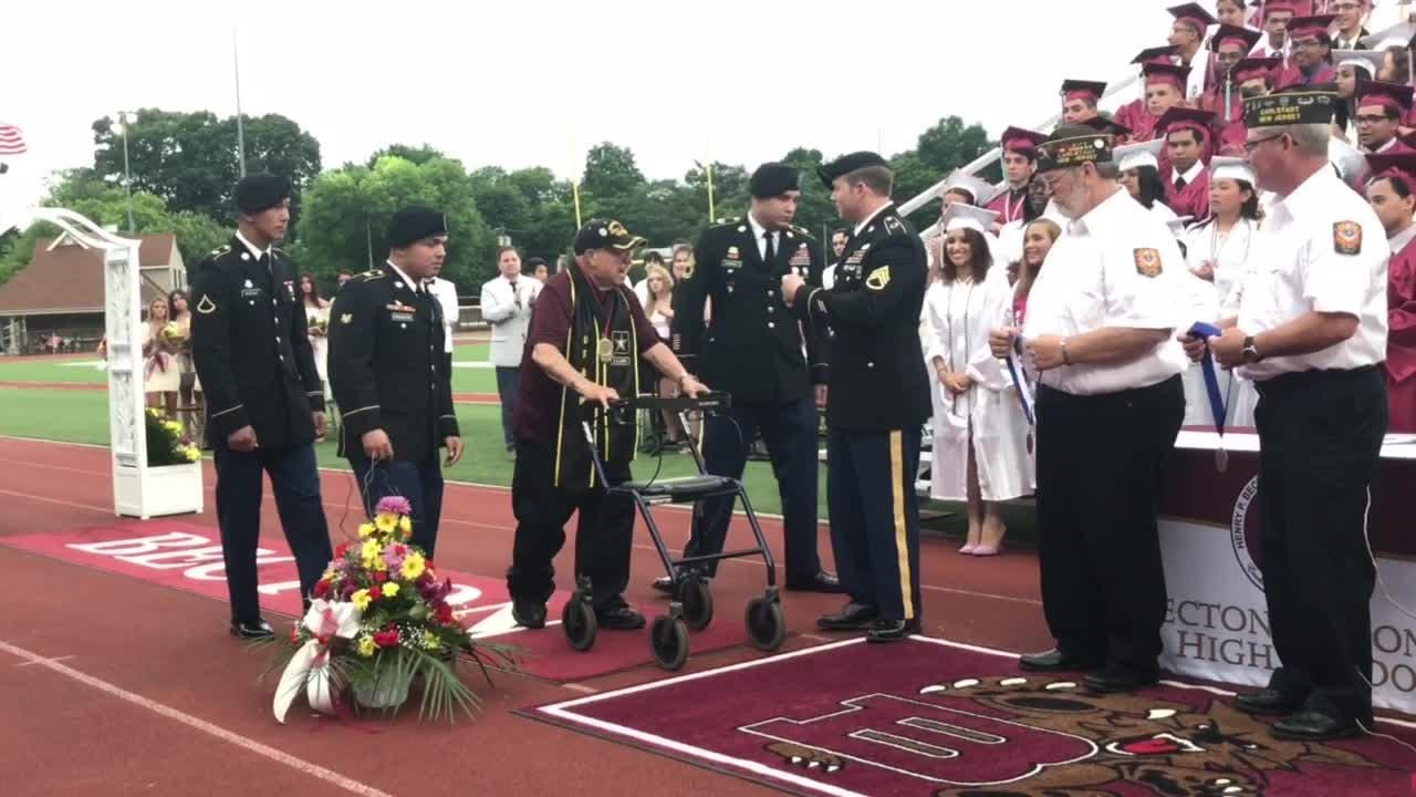 Vito Trause, a 93-year-old World War II veteran, was awarded the diploma he would have earned 73 years had he not dropped out to join the Army.