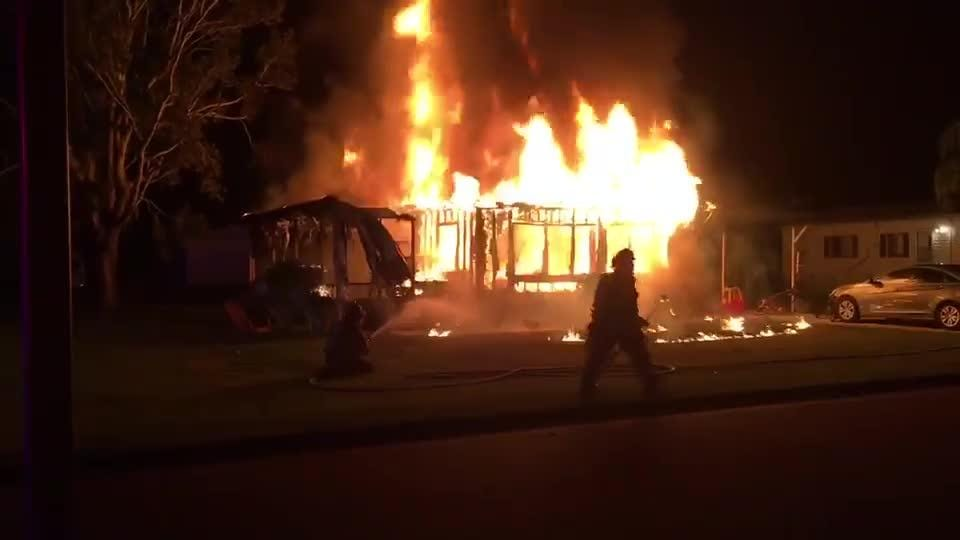 Fire breaks out at Cocoa mobile home