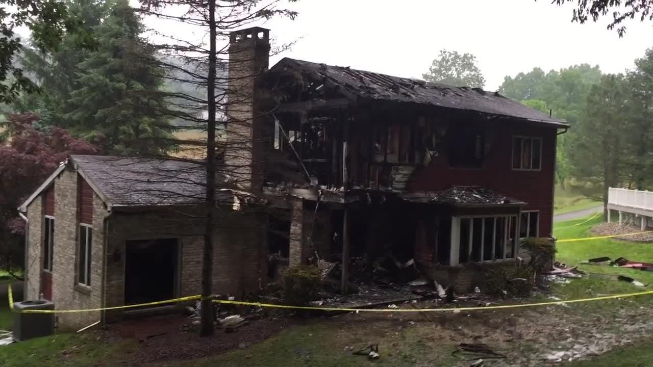 A male was found dead by firefighters after they were called to his York Township home Wednesday evening for a fire.