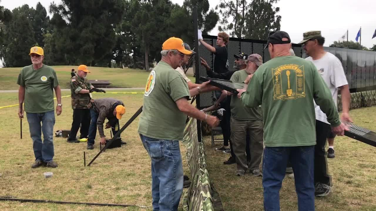 The Moving Wall, a half-size replica of the Vietnam Veterans Memorial Wall in Washington, D.C., is in Ventura and will be open around the clock.