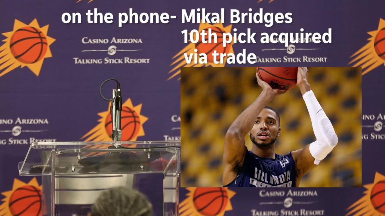 The 10th pick in the draft, Mikal Bridges, talks about the whirlwind night and what it means to join the young Suns.
