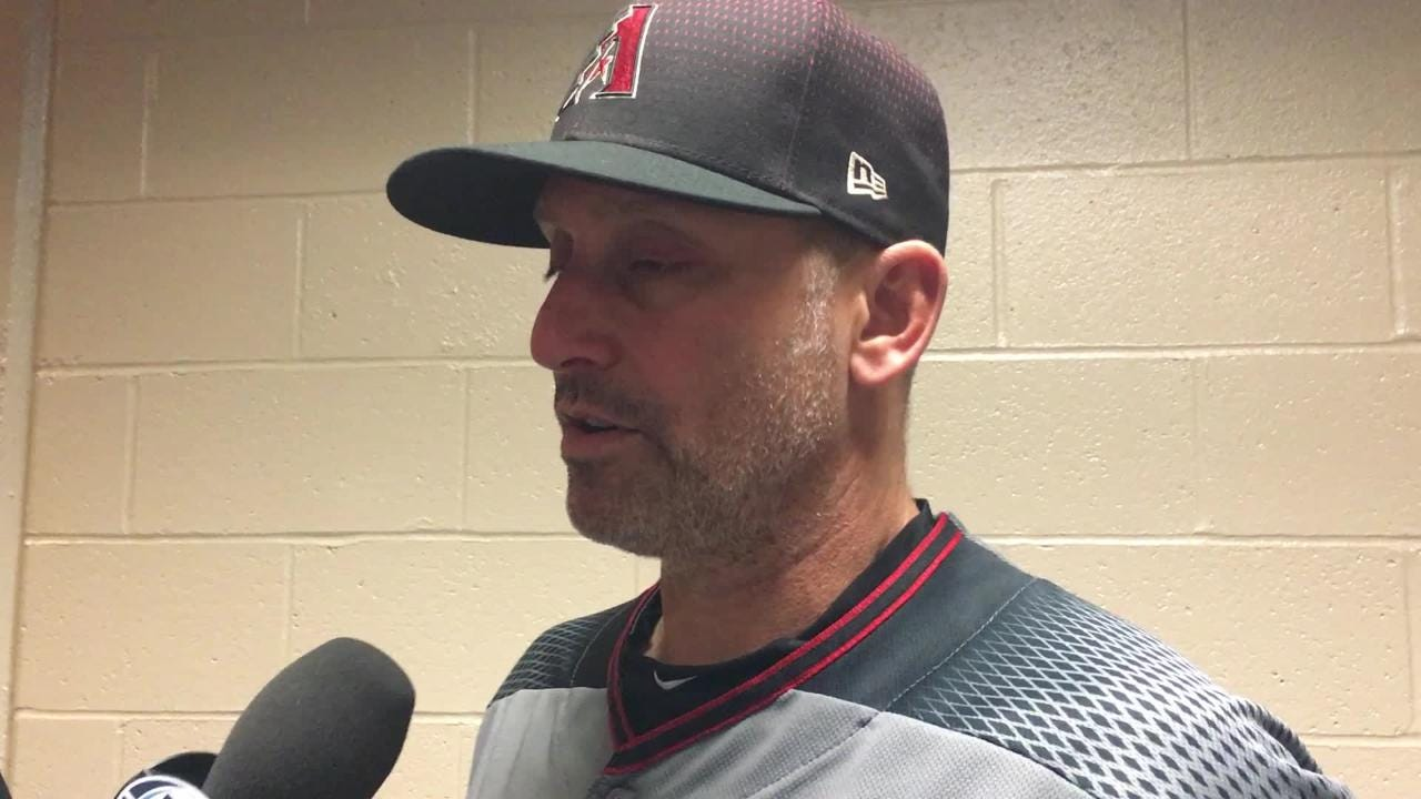 Diamondbacks manager Torey Lovullo talks about his team's approach on Pirates pitcher Chad Kuhl.